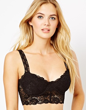 ASOS | ASOS Boudoir Lace Underwired Bralet at ASOS