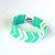 Peyote Beadweaving Bracelet - Cuff - Beadwork - Chevron Bracelet - Turquoise and White - Jewelry - Boho - Handwoven Bracelet - Birthday Gift