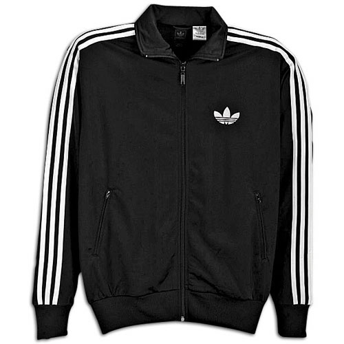 Adidas zip track jacket in black