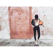 jeans,tumblr,denim,black jeans,top,white top,cap,black cap,bomber jacket,bath bomb,khaki bomber jacket,flats