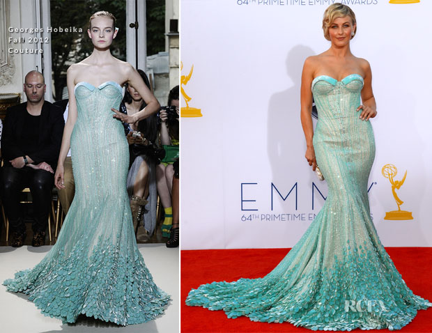 Julianne Hough In Georges Hobeika Couture - 2012 Emmy Awards - Red Carpet Fashion Awards