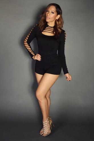 romper black style sexy fashion