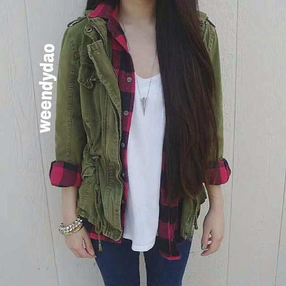 flannel shirt jacket army jacket