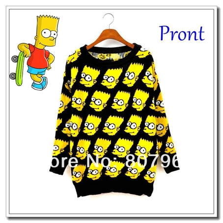 FREE SHIPPING FASHION BART SIMPSON PULLOVER SWEATER WOMEN CLOTHING CARTOON AUTUMN CHARACTER SWEATER LOOSE OUTERWEAR-IN PULLOVERS FROM APPAREL & ACCESSORIES ON ALIEXPRESS.COM on The Hunt