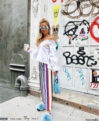 pants yeah bunny stripes comfy loose