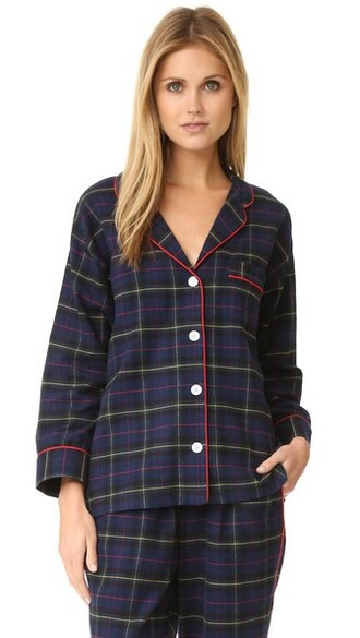 shirt plaid navy flannel top