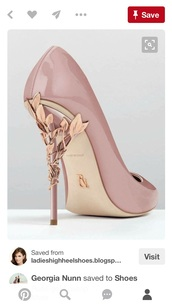 shoes,pumps,rose gold,high heel pumps,pink heels