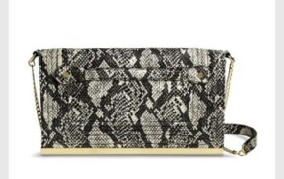 bag purse clutch snake print