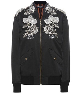 jacket bomber jacket embellished black