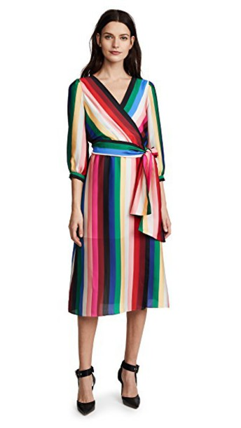 alice + olivia dress midi dress midi rainbow