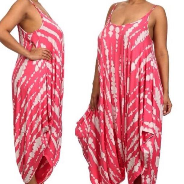 jumpsuit, plus size, romper, red dress - Wheretoget
