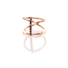 Zoe Chicco  — 14k pave open bar ring