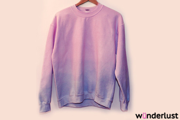 Sweater: sweatshirt, ombre, dip dyed, dip dyed, dip dyed, purple ...