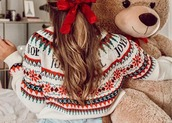 sweater,christmas,haircovered