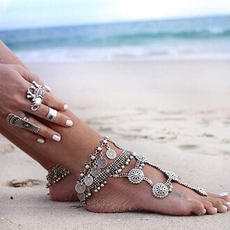 jewels outfit made anklet top anklet jewels skull body jewelry feet jewelry accessories