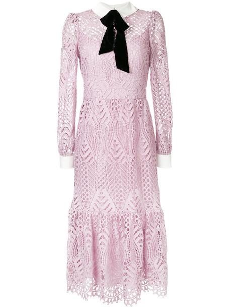 Temperley London dress women new moon silk purple pink