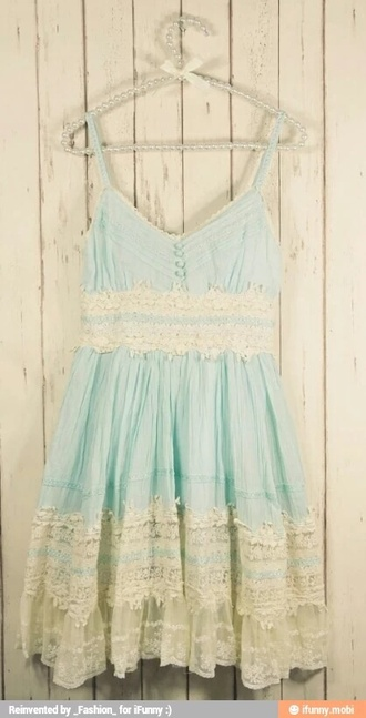 dress white lace adorable cute summer baby blue dress summer dress perfect
