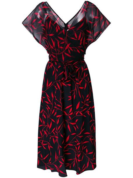 Dvf Diane Von Furstenberg dress print dress women print black silk