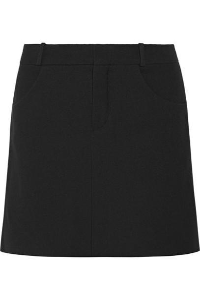 Chloe skirt mini skirt mini black wool