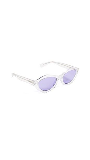 Quay sunglasses clear purple