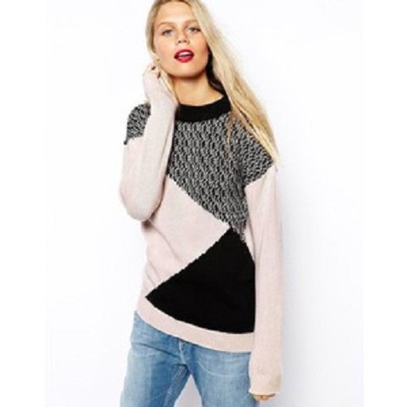 colorblock clothes sweater