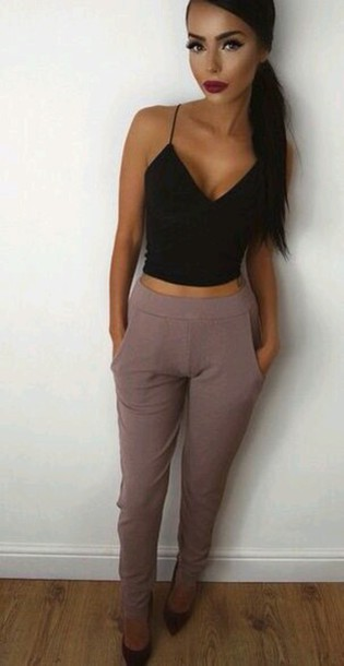 pants blush pants khaki pants grey