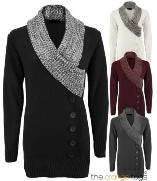 Sweater: ladies, knitwear, jumper, buttoned, dress, knitted dress ...
