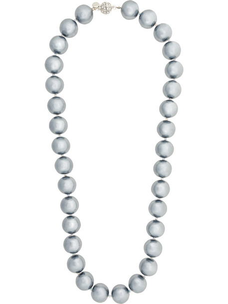 Moy Paris oversized women plastic ball necklace grey jewels