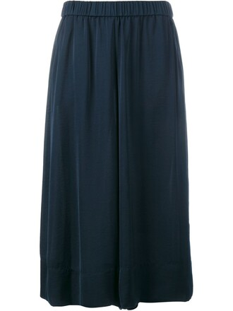 culottes blue pants