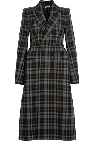 coat wool coat plaid wool