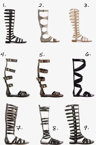 metallic gladiators sandals knee high sandals snake print