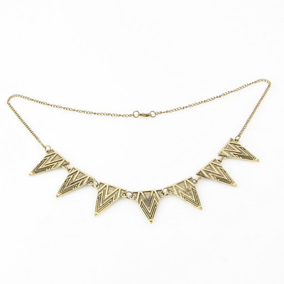 Aztec triangle necklace · tegans trove · online store powered by storenvy