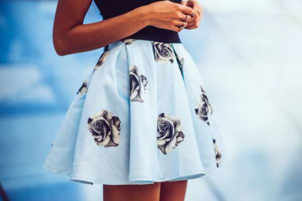 floral skater skirt skirt