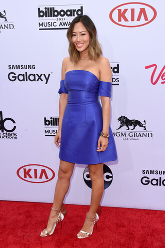 shoes billboard music awards sandals blue dress blue aimee song
