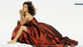 dress red dress salma hayek prom dress