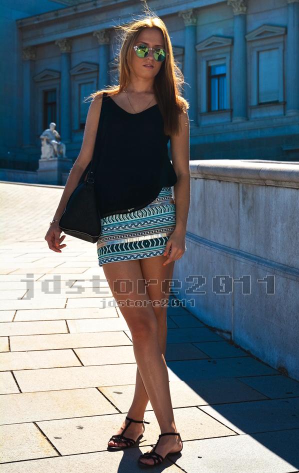 Genuine zara aztec cream aqua gold sequin beaded embroidered skirt new