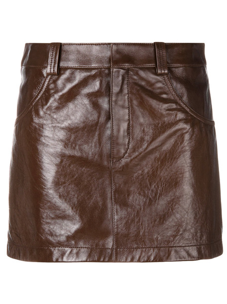 Chloe skirt mini skirt mini women brown