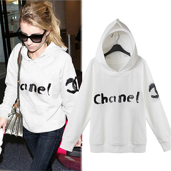 Coco white hoodie sweatshirt · nouveau craze · online store powered by storenvy