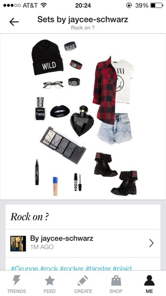 wild denim beanie edgy jacket plaid flannel shirt nirvana vans, floral, indie, hippie, hipster, grunge, shoes, girly, tomboy, skater jewlery make up