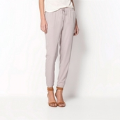 pants,harem pants,casual,drawstring pants,elastic waist,long trousers