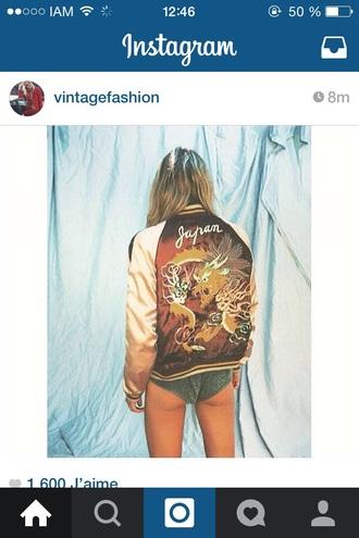 jacket japan bomber jacket girl tiger