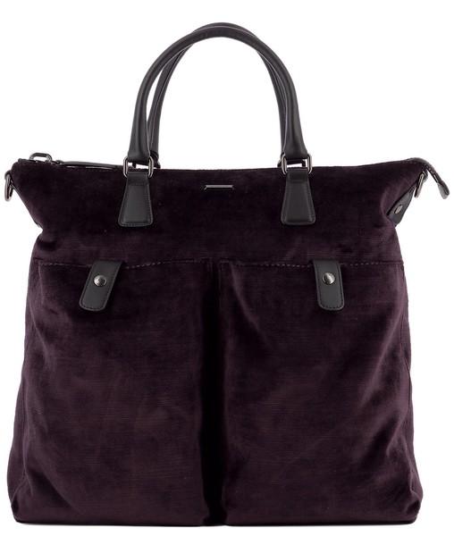 bag suede purple