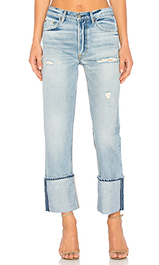 GRLFRND x REVOLVE Helena High-Rise Straight Crop Jean in All Night Long from Revolve.com