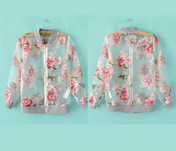 jacket flowers letterman jacket