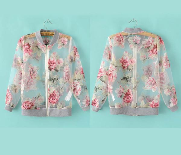 jacket flowers letterman jacket coat rose jumper clear pretty varsity jacket