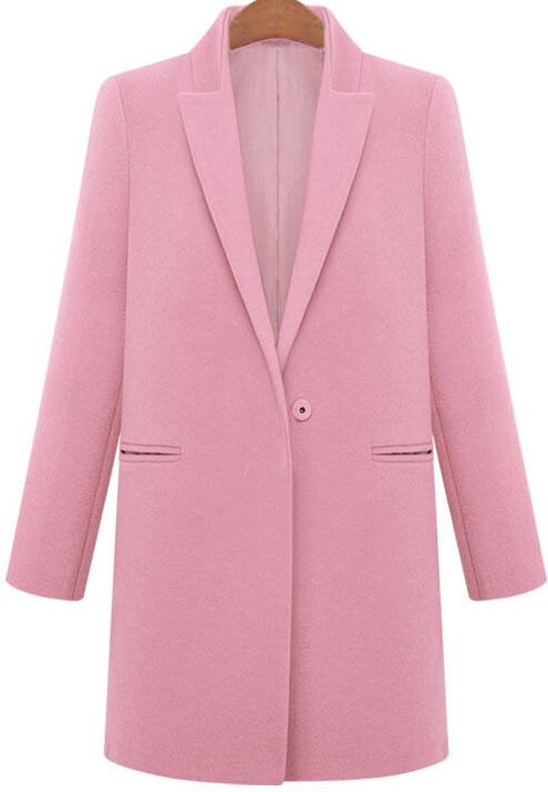 Abrigo de lana solapa bolsillos