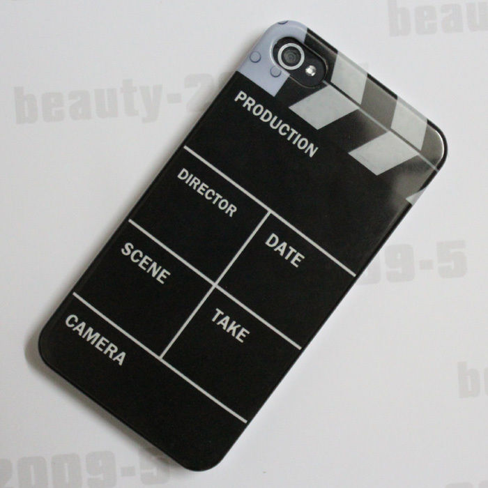 Movie tv rehearsal cut board slate clapper hard back case cover for iphone 4g 4s