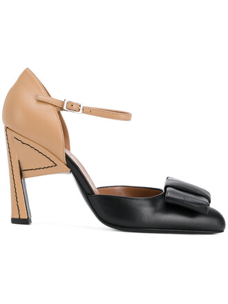 d'orsay pumps bow women pumps leather black shoes