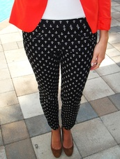 pants,anchor,sailor,navy,red,jacket,tumblr,chic,official,pinterest