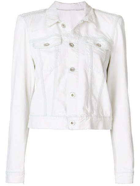 jacket denim jacket denim women white cotton